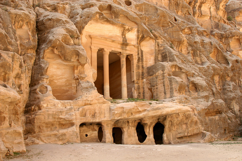 Little Petra (Siq Al-Barid) - An ornately carved dining room (I think).