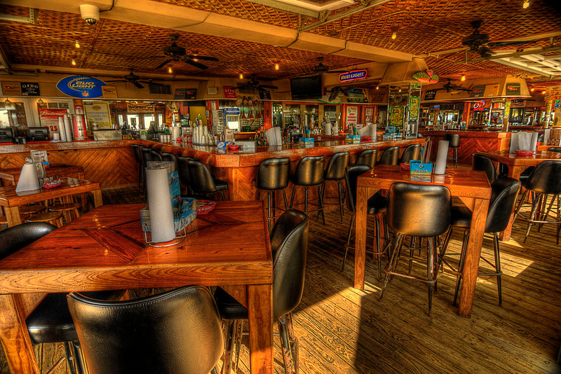Inside Oceanfront Bar & Grill on the Boardwalk in Myrtle Beach, SC on Saturday, March 10, 2012. Copyright 2012 Jason Barnette