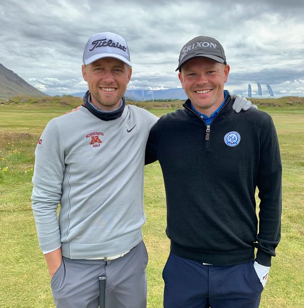 Rúnar Arnórsson, GK, og Ólafur Björn Loftsson, GKG.  Mynd/seth@golf.is
