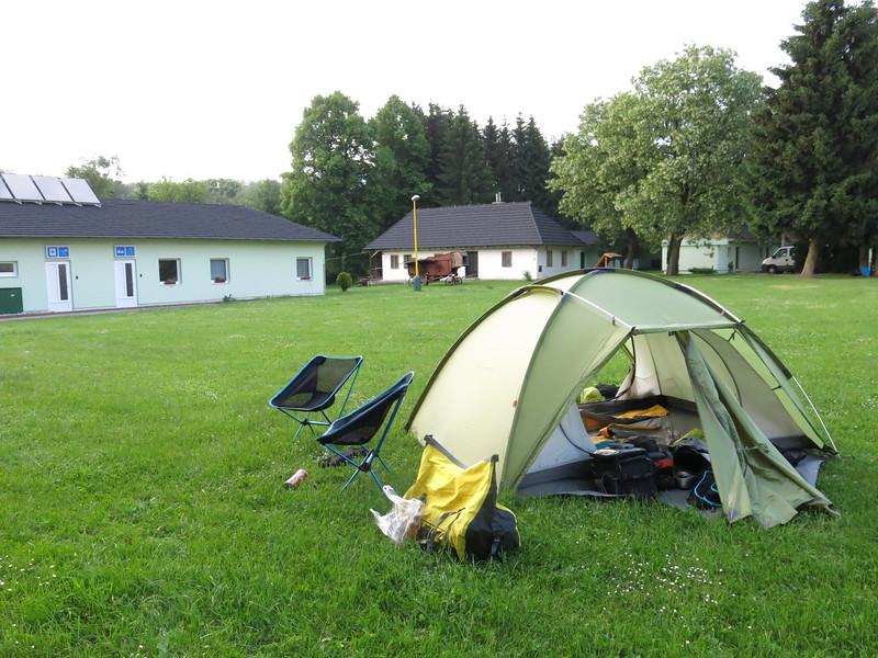 Campsite near Dolny Kubin