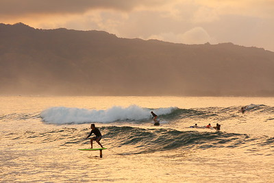 Surfers in Waialua Bay.  © 2020 Kenneth R. Sheide