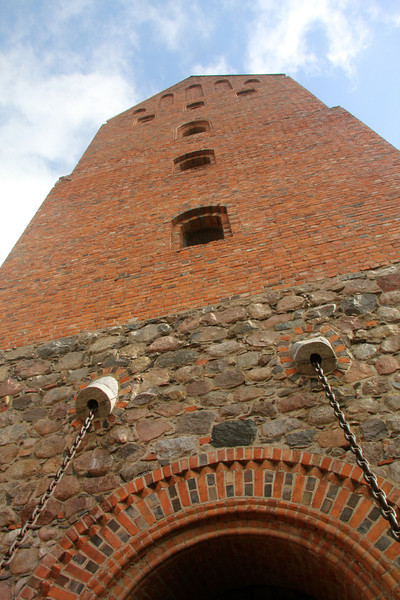 Facade of the main palace at Trakai Castle -Lithuania