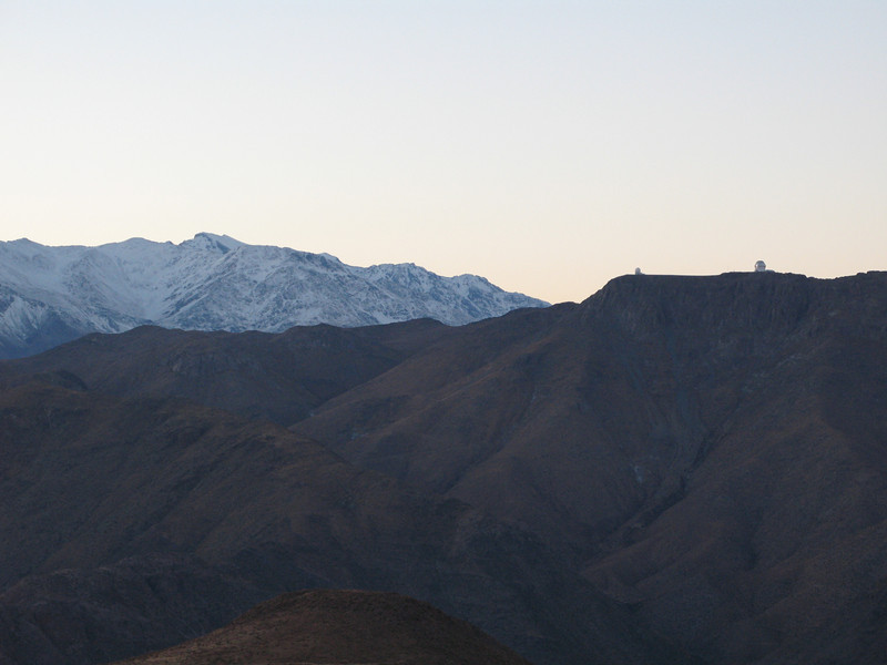 Cerro Pachón with Gemini South and SOAR , this time with added snowy mountains
