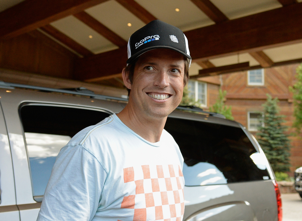 . Nicholas Woodman, founder and CEO of GoPro, arrives for the Allaen & Co. annual conference on July 9, 2013 in Sun Valley, Idaho. The resort will host corporate leaders for the 31th annual Allen & Co. media and technology conference where some of the wealthiest and most powerful executives in media, finance, politics and tech gather for a weeklong meetings which begins Tuesday. Past attendees included Warren Buffett, Bill Gates and Mark Zuckerberg.  (Photo by Kevork Djansezian/Getty Images)