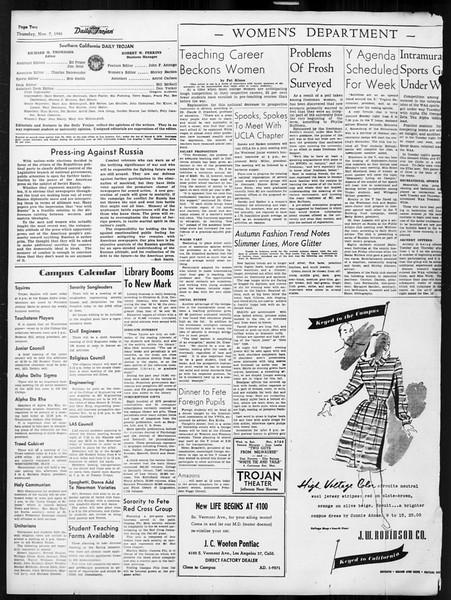 Daily Trojan, Vol. 38, No. 39, November 07, 1946