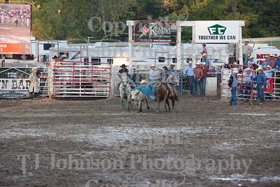 2014 Dayton Rodeo Steer Wrestling - Saturday