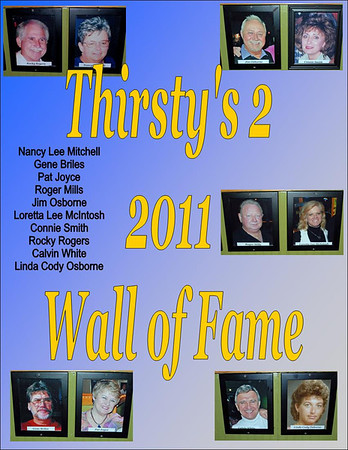 2011 Thirsty's 2 Wall of Fame Induction