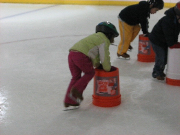 Lydia Ice Skates, Sorta - VIDEO