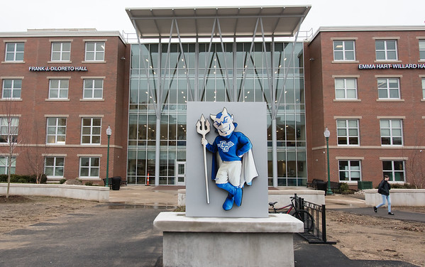 02/07/19 Wesley Bunnell | Staff CCSU's Willard and DiLoreto Halls have opened again after going through complete renovations and construction of a 30,000 square foot infill in between the buildings.