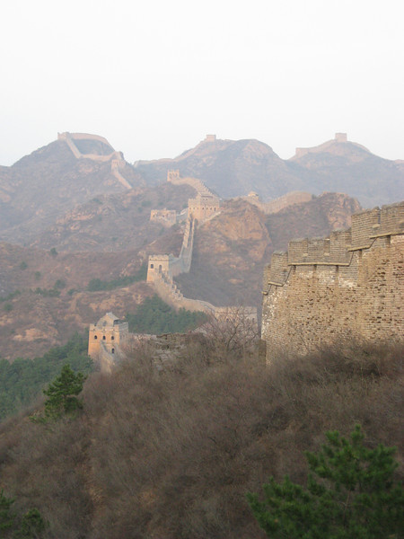 A beautiful shot of the Jinshanling Great Wall before sunset.  This is the beginning of tomorrow's hike.