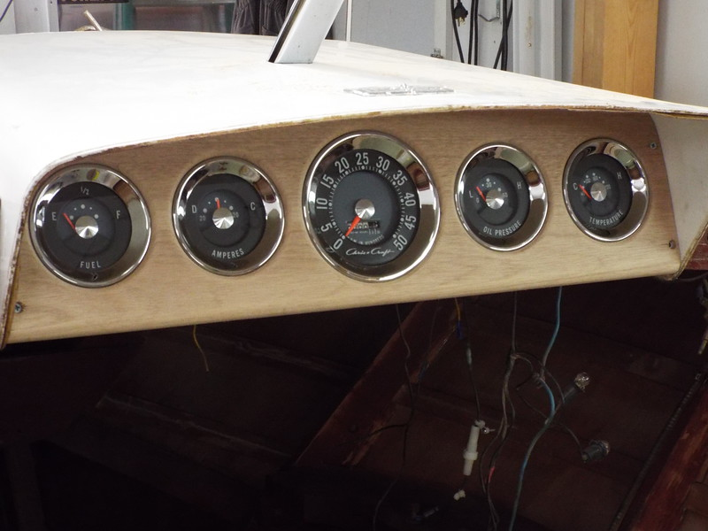 Front view of the new wood panel.