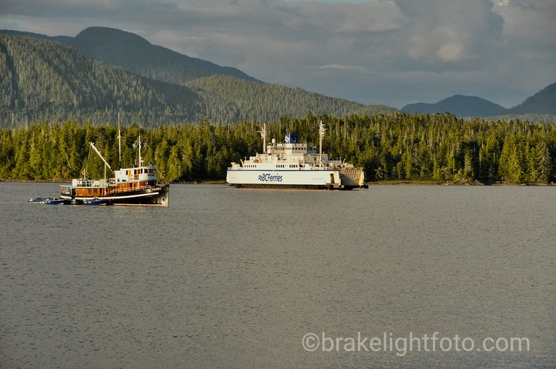 The Queen of Chilliwack approaching the dock at Shearwater