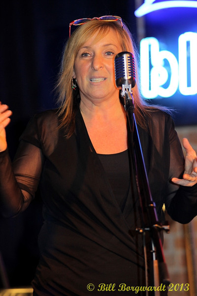 Diana Lavallee organizer of the Food Bank Fund Raising concert at the Blue Sky Cafe
