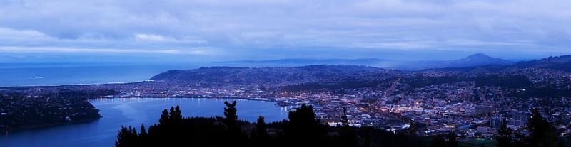 Dawn over Dunedin from Signal Hill