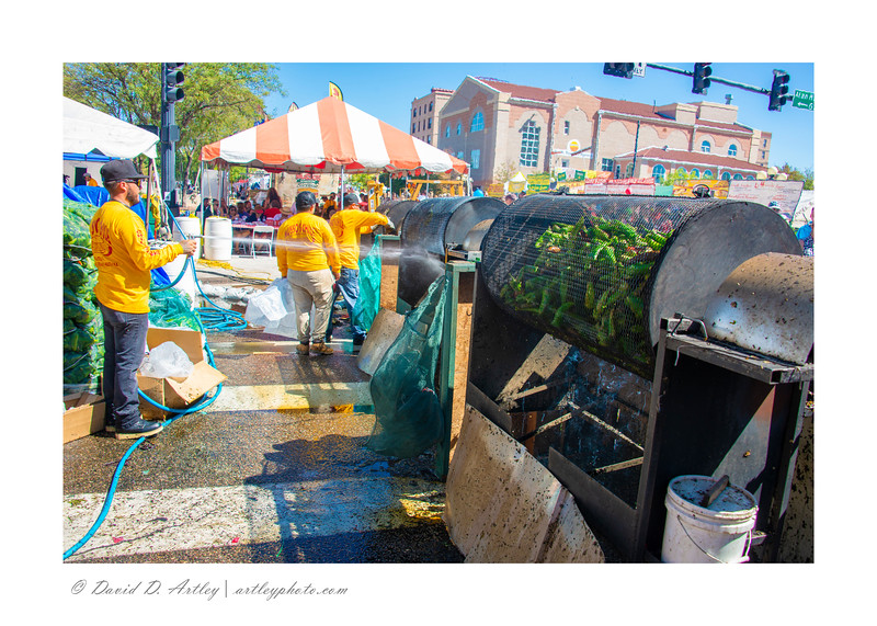 roasting Chilis, Pueblo Chili and Frijole Festival