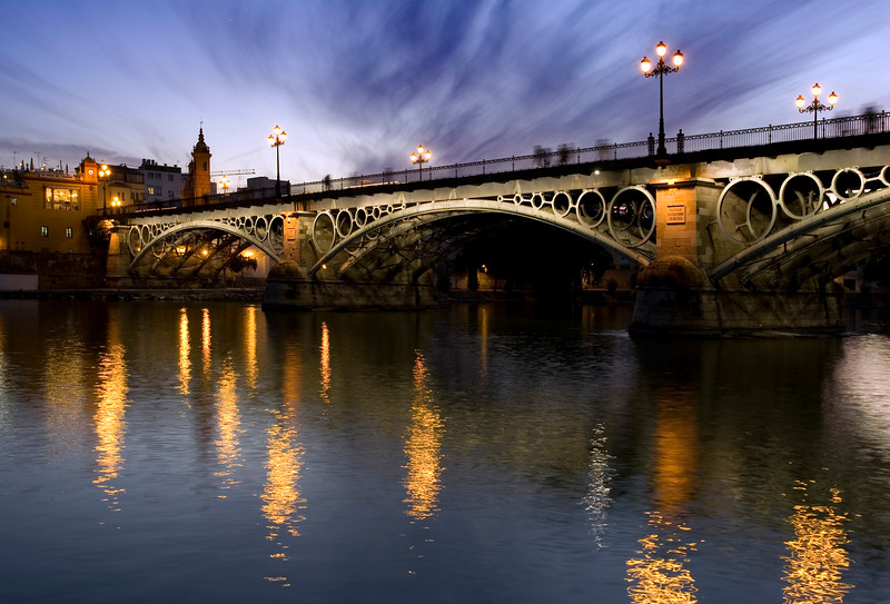 Triana bridge and Guadalquivir river
