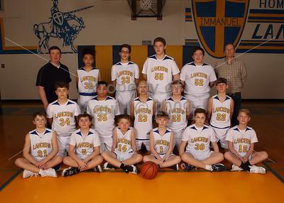 7-8th basketball team photoshoot