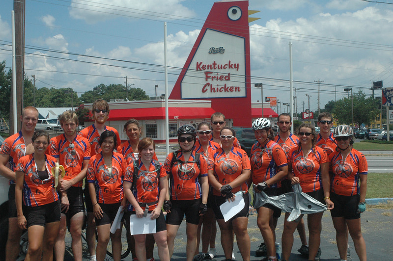 09 08-02 - Bikers stop at one of the original KFC places in Atlanta. JM