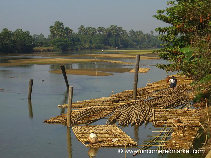 Bamboo Rafts - Toungoo, Burma