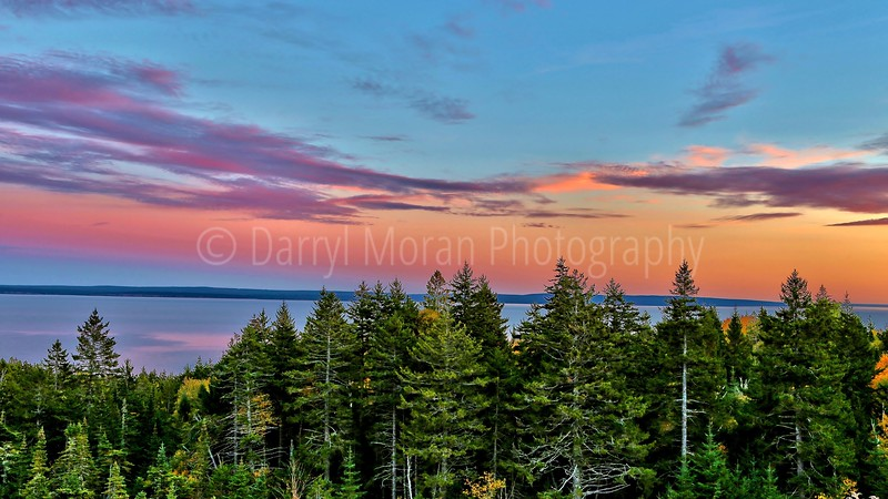 Bass Harbor Colorful Sunset