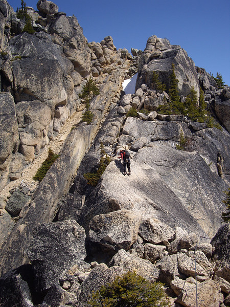 Laura on the traverse.