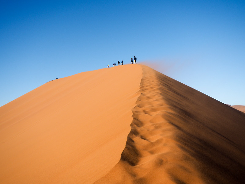 Wind on Dune 45 in Namibia