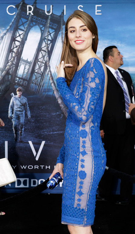 """. Actress Dominik Garcia-Lorido, daughter of actor Andy Garcia, arrives as a guest at the premiere of the new film \""""Oblivion\"""" in Hollywood, California April 10, 2013. REUTERS/Fred Prouser"""