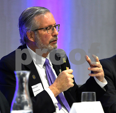 2/21/2018 Mike Orazzi | Staff State Rep Dr. William Petit during the Central Connecticut Chambers of Commerce 2018 Legislative Breakfast held at the DoubleTree by Hilton Hotel Bristol in Bristol Wednesday morning.
