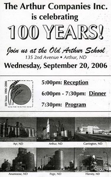 ARE037.  Arthur Companies Inc. celebrating 100 years – 2006.jpg