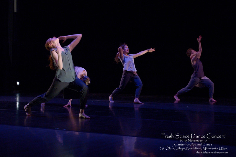 Fresh Space Dance Concert, 2018 November 10, Center for Art and Dance, St. Olaf College, Northfield, Minnesota  USA.