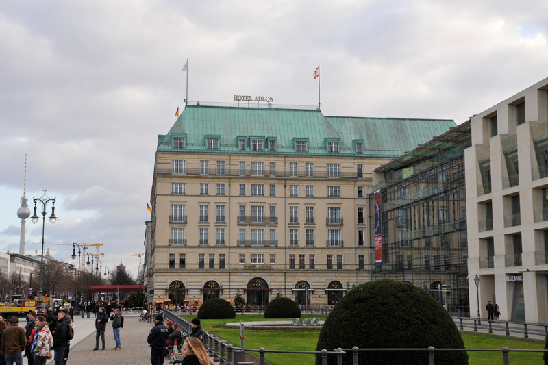Hotel Adlon, near the Brandenburg Gate, Berlin.