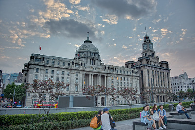 On the waterfront of the Bund