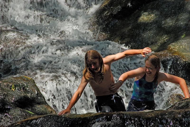 Stephanie tickling Amos   (Jul 01, 2006, 11:01am)
