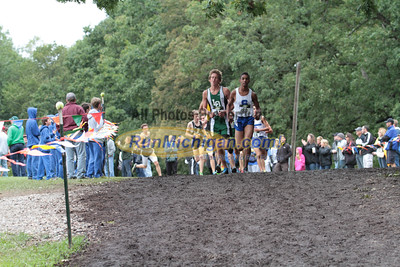 Boys D1 at 1 mile mark - 2014 Nike Holly Duane Raffin Cross Country Invite