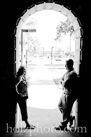 Natalie and Brian B/W Engagement Photos