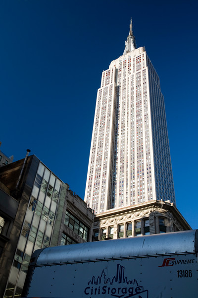 The Empire State Building from 5th Avenue, NYC, USA