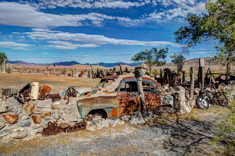 Thunder Mountain Indian Monument, Nevada
