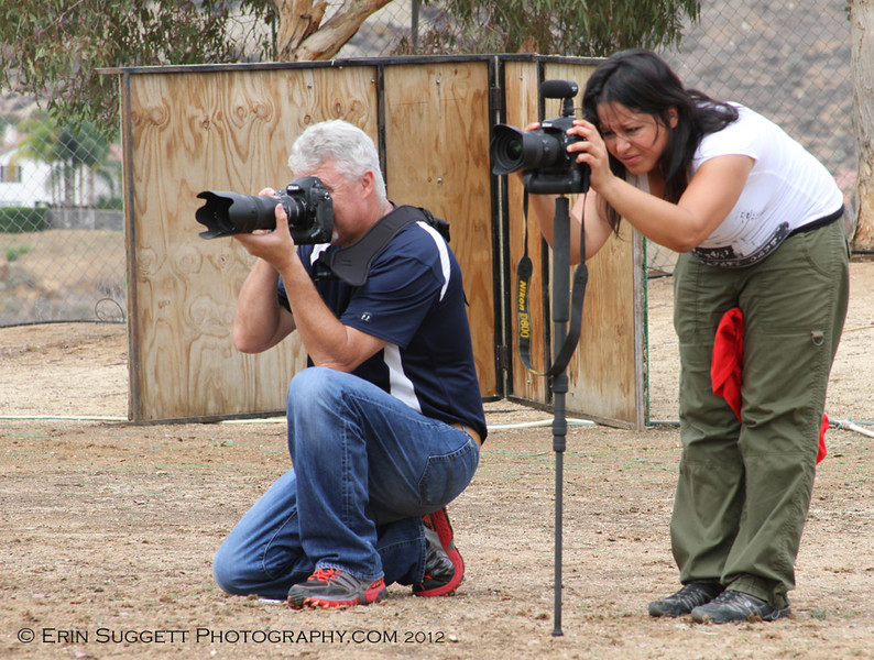 I wasn't the only one shooting - Leighton Oosthuisen & Loni Tyler.
