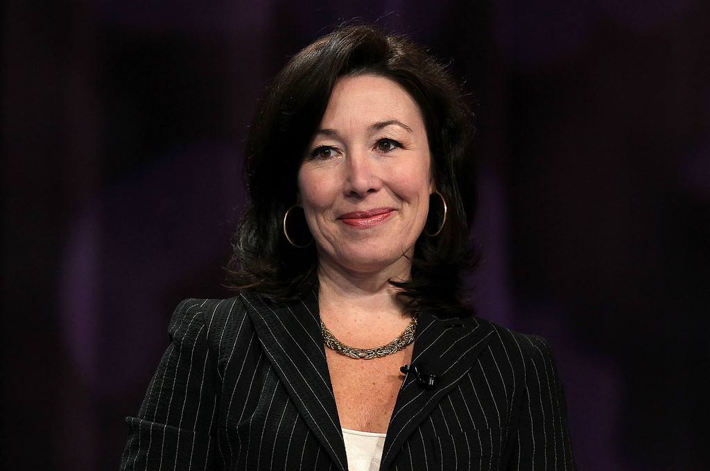 . Oracle president Safra Catz prepares to deliver a keynote address during the 21st annual Professional Business Women of California conference May 11, 2010, in San Francisco, Calif. The day-long annual conference for California businesswomen brings together thousands of women from industries across California for integrated leadership training, networking and seeking out ways to increase women\'s value to business. (Justin Sullivan/Getty Images)