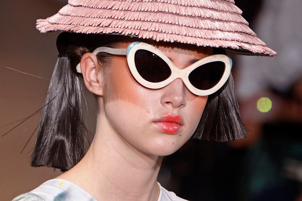 . A model presents a creation as part of Tsumori Chisato\'s ready-to-wear Spring/Summer 2014 fashion collection, presented Saturday, Sept. 28, 2013 in Paris. (AP Photo/Thibault Camus)