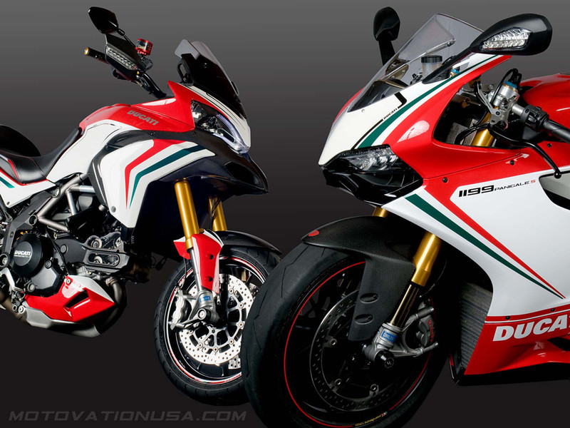 Custom Multistrada 1200S Tricolore by  http://www.motovationusa.com  Article here (link to come)