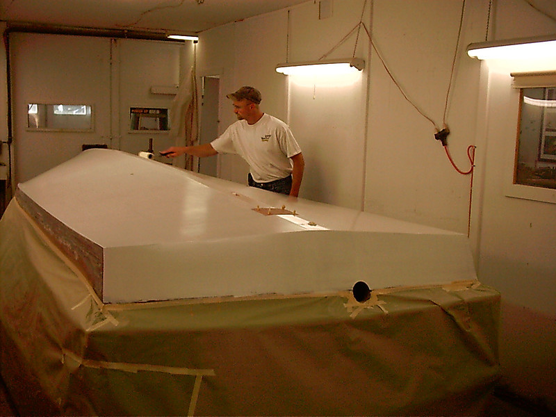 appling epoxy barrier coat