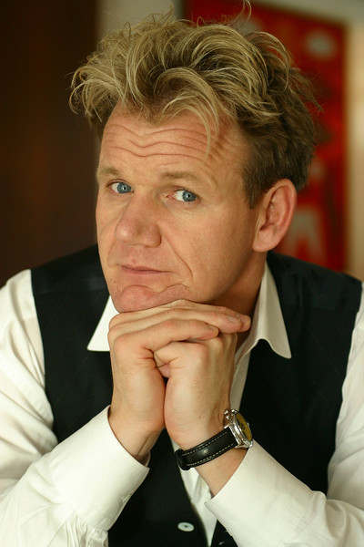 "Gordon Ramsay photographed in Sydney, he was here to promote a new book. News LTD Picture. SEPTEMBER 19, 2003: Chef Gordon Ramsay in Australia to promote his new cookbook ""Gordon Ramsay's Secrets"" during press conference in Sydney, 19/09/03. Pic Geoff Ward. Book P/ Photographer - GEOFF WARD. NEWS LTD PICTURE."