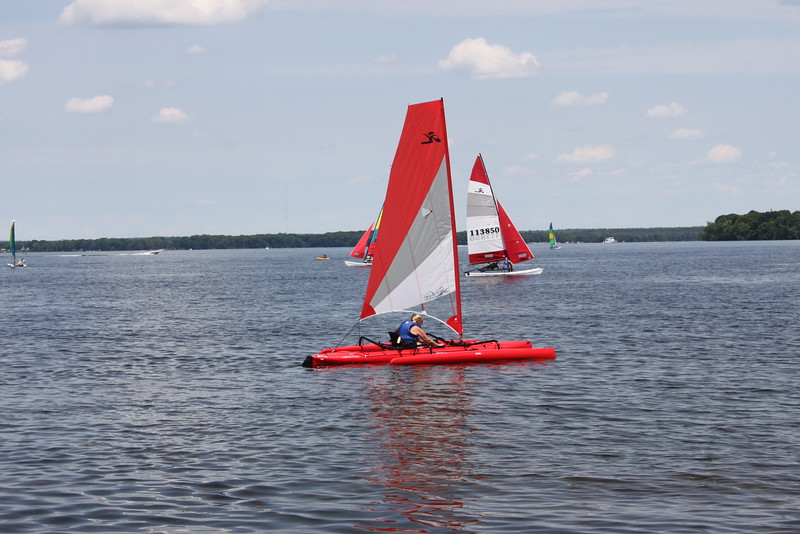 Testing out the Hobie Mirage