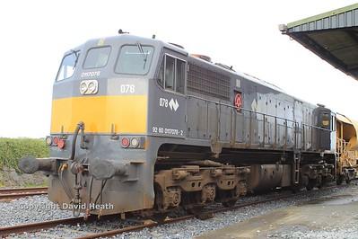 78 CIE GM Class 071  & High output Ballast train Wexford 23-4-15