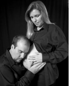 Margie_Pregnant036_B&W