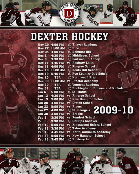 Dexter Team Pics and Poster 2009-10