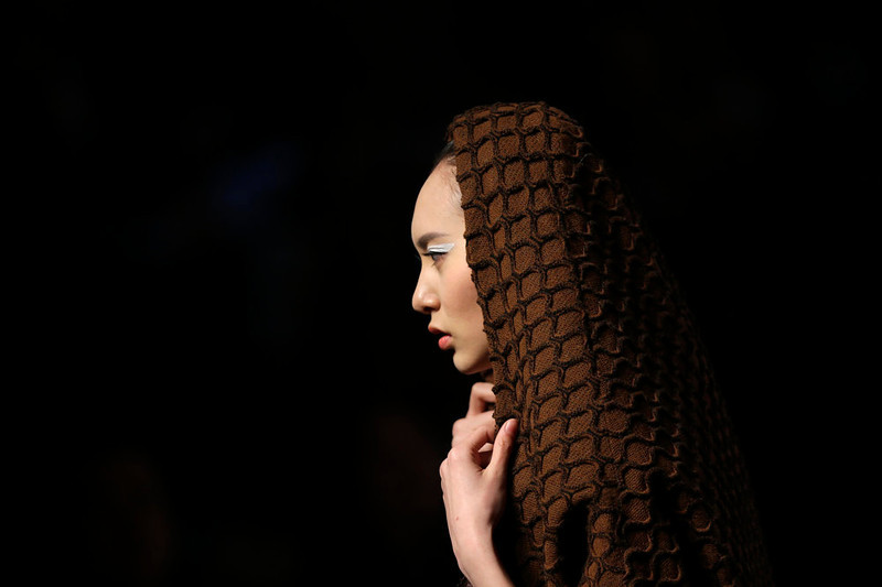 . A model presents a creation for Hempel Award 21st China International Young Fashion Designers Contest, at China Fashion Week in Beijing, March 25, 2013. REUTERS/Jason Lee