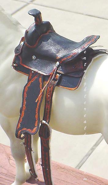 Older Miniature Western Saddle works