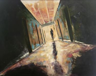 """""""The Door"""" (acrylic) by Aaron Krone"""
